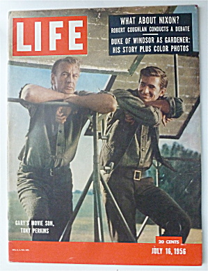 Life Magazine-july 16, 1956-tony Perkins