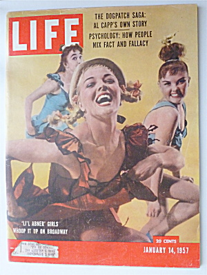 Life Magazine-january 14, 1957-lil Abner Girls
