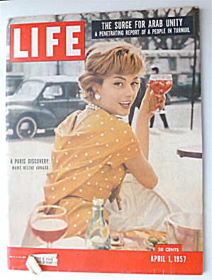 Life Magazine-april 1, 1957-marie Helene Armaud