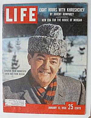 Life Magazine-January 12, 1959-Senator From Minnesota (Image1)