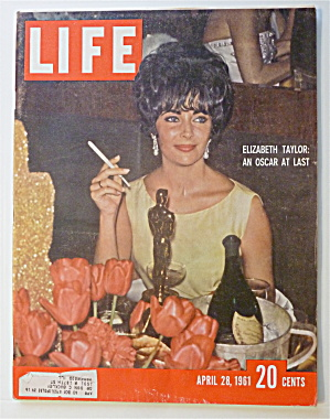 Life Magazine-april 28, 1961-elizabeth Taylor