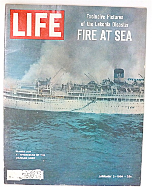 Life Magazine-january 3, 1964-fire At Sea