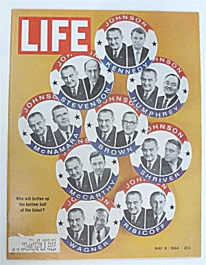 Life Magazine-May 8, 1964-Button Up  (Image1)