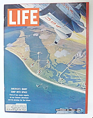 Life Magazine-september 25, 1964-giant Jump Into Space