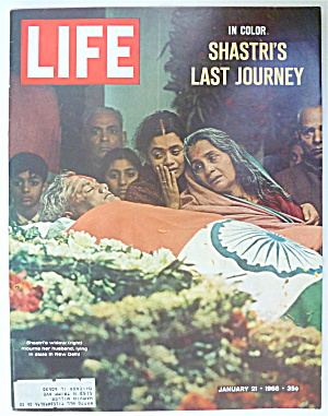 Life Magazine-January 21, 1966-Shastri's Widow  (Image1)