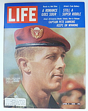 Life Magazine-april 8, 1966-captain Pete Dawkins