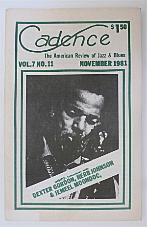 Cadence Magazine November 1981 Dexter Gordon