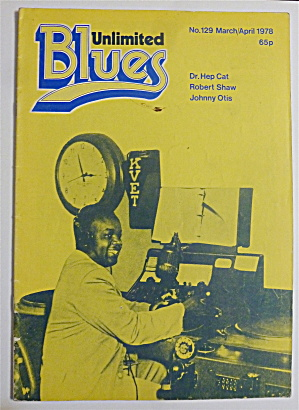 Blues Unlimited Magazine March/april 1978 Dr. Hep Cat