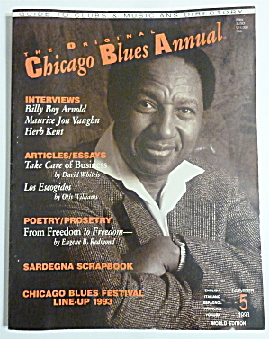 Original Chicago Blues Annual 1993 Billy Boy Arnold