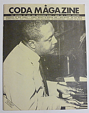 Coda Magazine October 1, 1984 Bud Powell