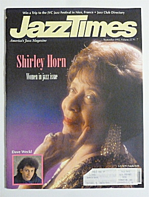 Jazz Times Magazine September 1992 Shirley Horn