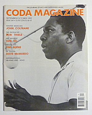 Coda Magazine September/october 1992 John Coltrane