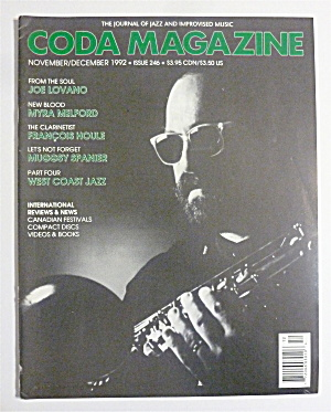 Coda Magazine November/december 1992 Joe Lovano