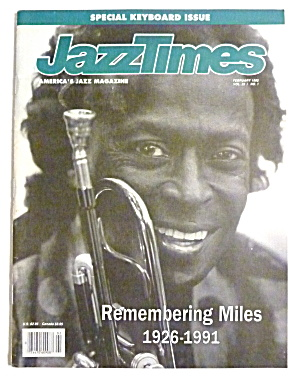 Jazz Times Magazine February 1992 Remembering Miles