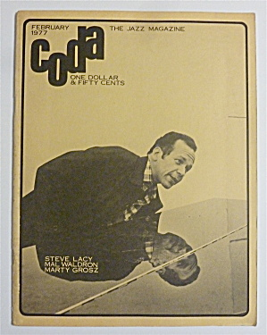 Coda Magazine February 1977 Steve Lacy