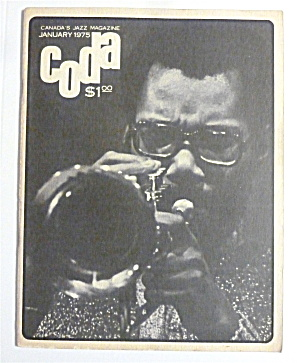 Coda Magazine January 1975 Charles Tolliver