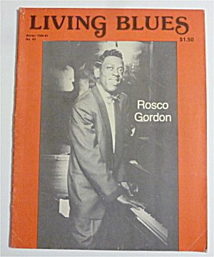 Living Blues Magazine Winter 1980-81 Rosco Gordon