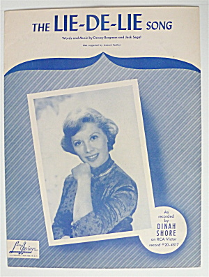Sheet Music For 1951 The Lie-de-lie Song