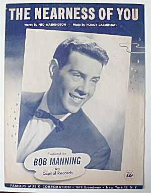 Sheet Music For 1940 The Nearness Of You