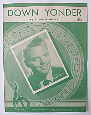 Sheet Music For 1948 Down Yonder (Champ Butler Cover)