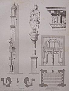 Eglise De Vetheuil  (1852 Lithograph) (Image1)