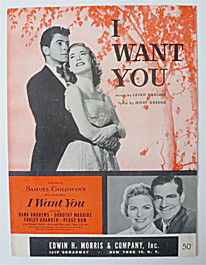 Sheet Music For 1951 I Want You