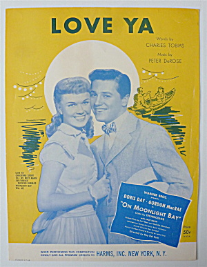 Sheet Music For 1951 Love Ya (D. Day & G. Macrae Cover)