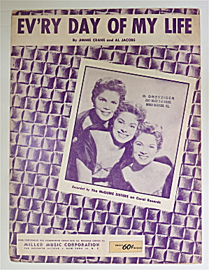 Sheet Music For 1954 Every Day Of My Life