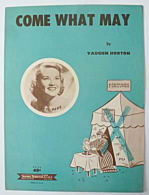 Sheet Music For 1952 Come What May