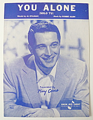 Sheet Music For 1953 You Alone (Solo Tu)