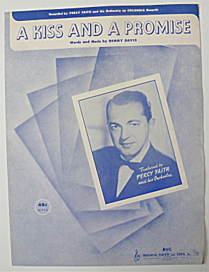 Sheet Music For 1951 A Kiss And A Promise