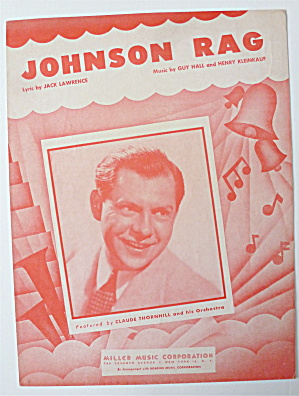 Sheet Music For 1945 Johnson Rag