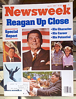 Newsweek Magazine-July 21, 1980-Reagan Up Close (Image1)