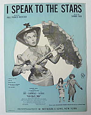 Sheet Music For 1956 I Speak To The Stars