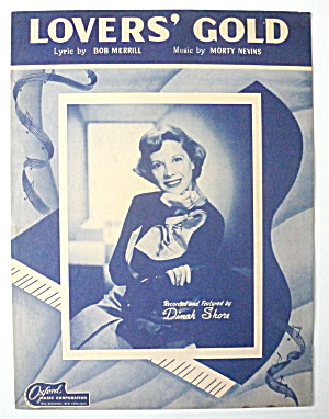 Sheet Music For 1949 Lovers' Gold