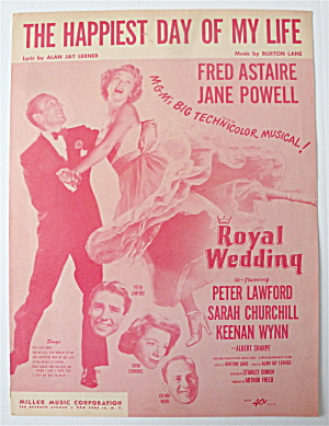Sheet Music For 1951 The Happiest Day Of My Life