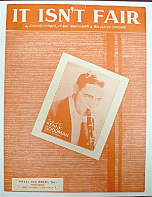 Sheet Music For 1937 It Isn't Fair  (Image1)