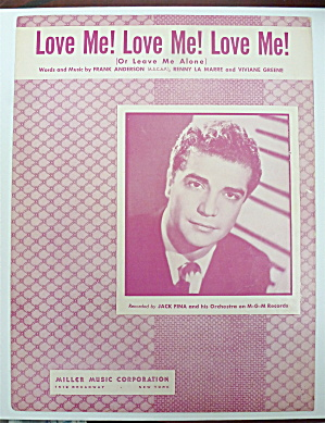 Sheet Music For 1949 Love Me Love Me Love Me