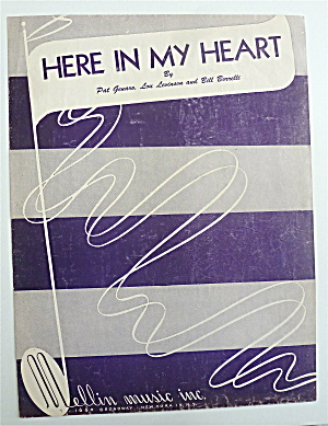 Sheet Music For 1952 Here In My Heart