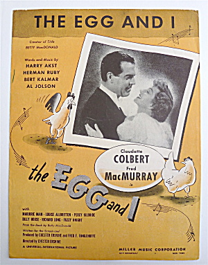 Sheet Music For 1947 The Egg And I