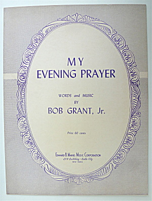Sheet Music For 1951 My Evening Prayer