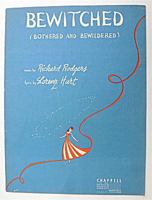 Sheet Music For 1941 Bewitched (Bothered & Bewildered)