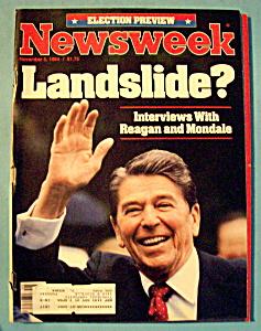 Newsweek Magazine - November 5, 1984 - Landslide? (Image1)
