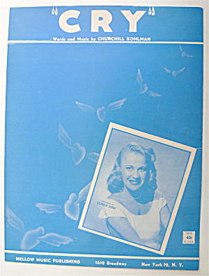 Sheet Music For 1951 Cry