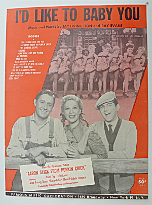 Sheet Music For 1951 I'd Like To Baby You