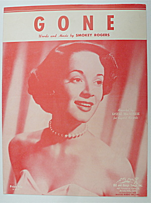 Sheet Music For 1952 Gone