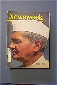 Newsweek Magazine - June 29, 1964 - Shastri of India (Image1)