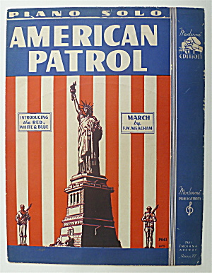 Sheet Music For 1941 American Patrol