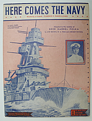 Sheet Music For 1934 Here Comes The Navy