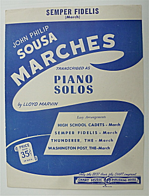 Sheet Music For 1946 Semper Fidelis (March)